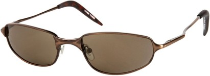 Angle of Albatross #5575 in Matte Bronze Frame, Women's and Men's Square Sunglasses