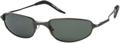 Angle of Albatross #5575 in Glossy Grey Frame, Women's and Men's Square Sunglasses