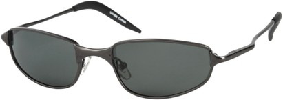 Angle of Albatross #5575 in Matte Grey Frame, Women's and Men's Square Sunglasses