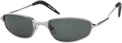 Angle of Albatross #5575 in Glossy Silver Frame, Women's and Men's Square Sunglasses