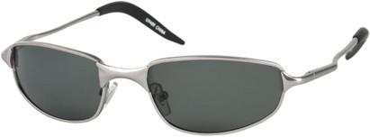 Angle of Albatross #5575 in Matte Silver Frame, Women's and Men's Square Sunglasses