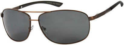 Angle of Archer #8309 in Bronze Frame with Grey Lenses, Men's Aviator Sunglasses
