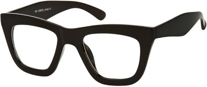 Angle of SW Retro Clear Style #4150 in Black Frame, Women's and Men's