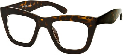 Angle of SW Retro Clear Style #4150 in Brown Tortoise Frame, Women's and Men's