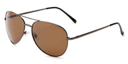 Angle of Expedition #1585 in Grey Frame with Amber Lenses, Women's and Men's Aviator Sunglasses