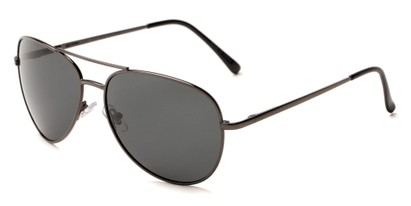Angle of Expedition #1585 in Grey Frame with Grey Lenses, Women's and Men's Aviator Sunglasses