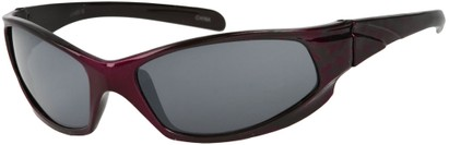 Angle of SW Kid's Sport Style #6475 in Purple/Black Frame, Women's and Men's