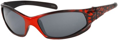 Angle of SW Kid's Sport Style #6475 in Red/Black Frame, Women's and Men's