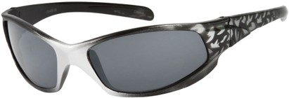Angle of SW Kid's Sport Style #6475 in Black/Silver Frame, Women's and Men's