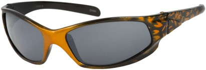 Angle of SW Kid's Sport Style #6475 in Orange/Black Frame, Women's and Men's