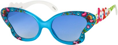 Angle of SW Kid's Floral Butterfly Style #5500 in Blue Frame, Women's and Men's