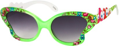 Angle of SW Kid's Floral Butterfly Style #5500 in Green Frame, Women's and Men's