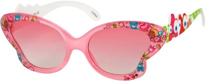 Angle of SW Kid's Floral Butterfly Style #5500 in Pink Frame, Women's and Men's