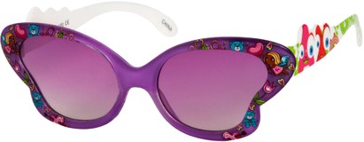 Angle of SW Kid's Floral Butterfly Style #5500 in Purple Frame, Women's and Men's
