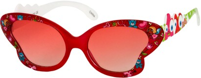 Angle of SW Kid's Floral Butterfly Style #5500 in Red Frame, Women's and Men's