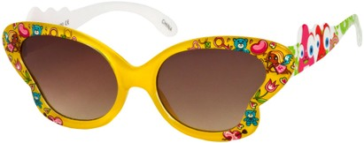 Angle of SW Kid's Floral Butterfly Style #5500 in Yellow Frame, Women's and Men's