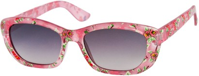 Angle of SW Kid's Tropical Floral Style #9281 in Pink Frame, Women's and Men's