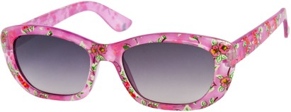 Angle of SW Kid's Tropical Floral Style #9281 in Purple Frame, Women's and Men's