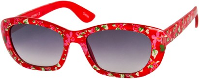 Angle of SW Kid's Tropical Floral Style #9281 in Red Frame, Women's and Men's