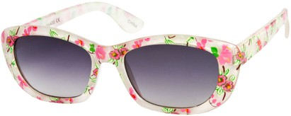 Angle of SW Kid's Tropical Floral Style #9281 in White Frame, Women's and Men's