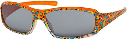 Angle of SW Kid's Cars & Trucks Style #9133 in Orange Frame, Women's and Men's