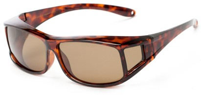 Angle of Seymour #1090 in Tortoise Frame with Amber Lenses, Women's and Men's Square Sunglasses