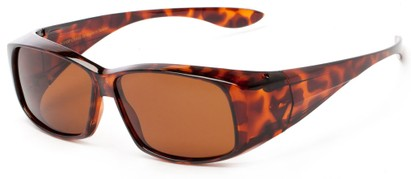 Angle of Dunlap #1100 in Glossy Tortoise Frame with Amber Lenses, Women's and Men's Square Sunglasses