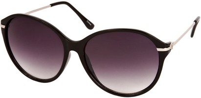 Angle of SW Celebrity Round Style #1363 in Black Frame, Women's and Men's