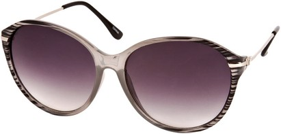 Angle of SW Celebrity Round Style #1363 in Grey Stripe Frame, Women's and Men's