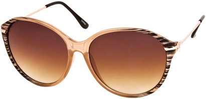 Angle of SW Celebrity Round Style #1363 in Tan Stripe Frame, Women's and Men's