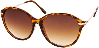 Angle of SW Celebrity Round Style #1363 in Brown Tortoise Frame, Women's and Men's