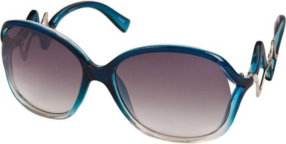 Angle of SW Oversized Style #83 in Blue/Clear Fade Frame, Women's and Men's
