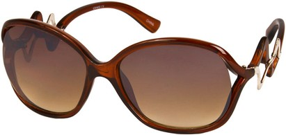 Angle of SW Oversized Style #83 in Brown Frame, Women's and Men's