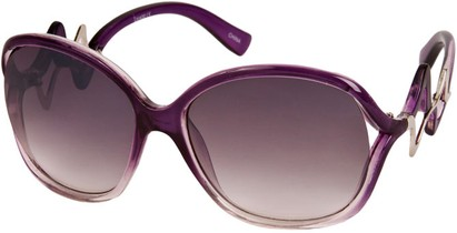 Angle of SW Oversized Style #83 in Purple/Clear Frame, Women's and Men's