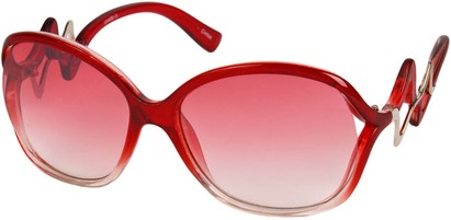 Angle of SW Oversized Style #83 in Red/Clear Frame, Women's and Men's