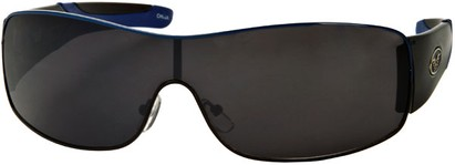 Angle of SW Shield Style #1632 in Black/Blue Frame, Women's and Men's