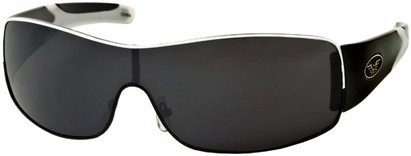 Angle of SW Shield Style #1632 in Black/White Frame, Women's and Men's