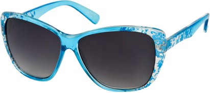 Angle of SW Oversized Floral Style #4360 in Blue Frame, Women's and Men's