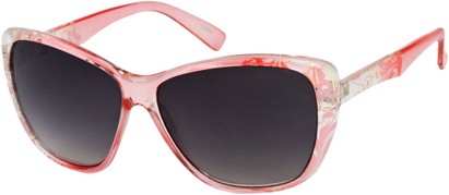 Angle of SW Oversized Floral Style #4360 in Pink Frame, Women's and Men's