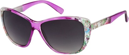 Angle of SW Oversized Floral Style #4360 in Purple Frame, Women's and Men's