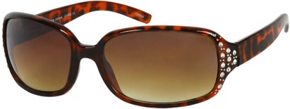 Angle of SW Rhinestone Style #4688 in Brown Tortoise Frame, Women's and Men's