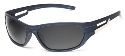 Angle of SW Polarized Sport Style #2118 in Matte Blue Frame with Grey Lenses, Women's and Men's