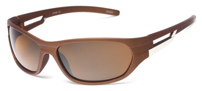 Angle of SW Polarized Sport Style #2118 in Matte Brown Frame with Amber Lenses, Women's and Men's