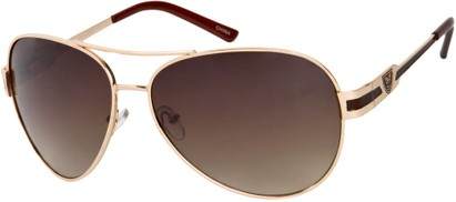Angle of Playa #6790 in Gold/Burgundy Frame, Women's and Men's Aviator Sunglasses