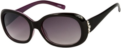 Angle of SW Rhinestone Style #4577 in Purple/Black Frame, Women's and Men's