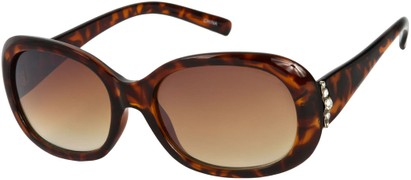 Angle of SW Rhinestone Style #4577 in Brown Tortoise Frame, Women's and Men's