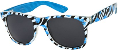 Angle of SW Zebra Kiss Retro Style #5220 in Blue/Black, Women's and Men's