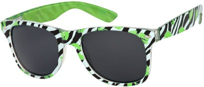 Angle of SW Zebra Kiss Retro Style #5220 in Green/Black, Women's and Men's