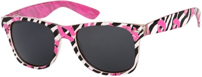 Angle of SW Zebra Kiss Retro Style #5220 in Pink/Black, Women's and Men's