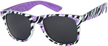 Angle of SW Zebra Kiss Retro Style #5220 in Purple/Black, Women's and Men's